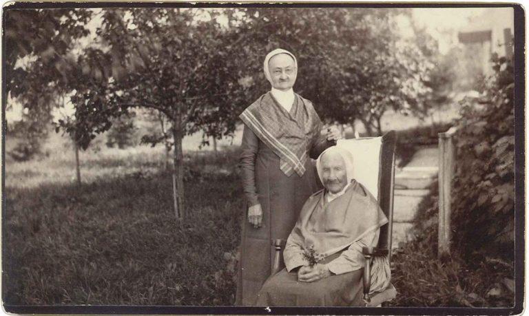 Sister Dolly Sexton and Sister Eleanor Potter, Church Family, Mount Lebanon, NY, 1883